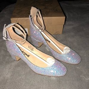 Free People glitter Lana block heel
